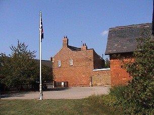 Belton village flag pole
