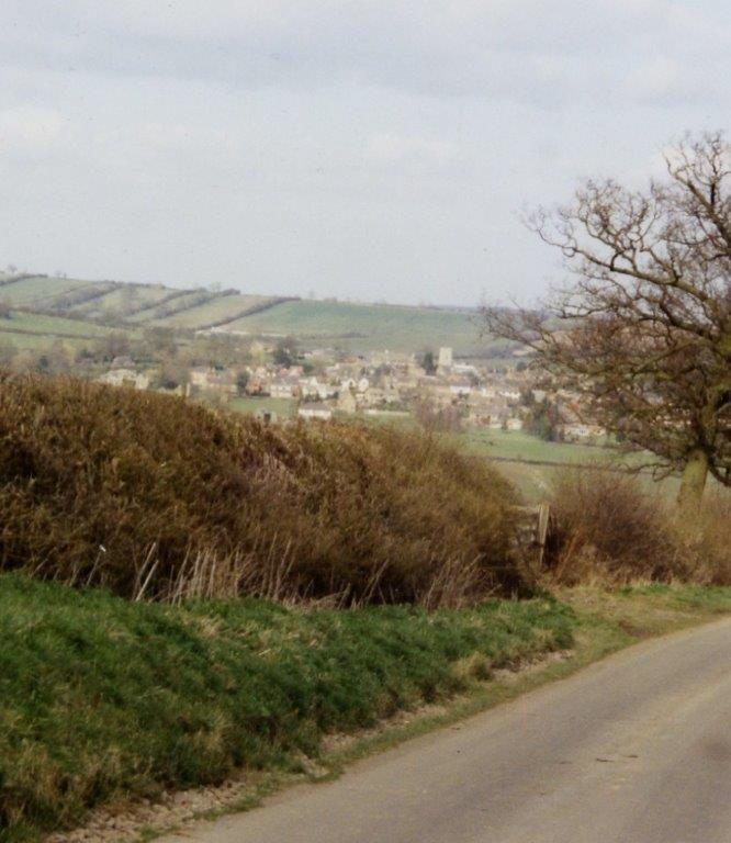 view from Hallaton field road