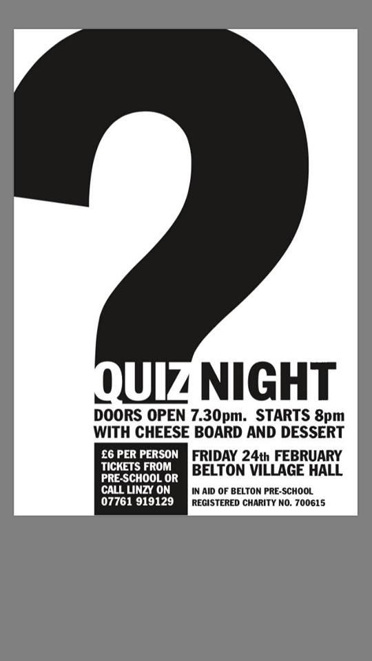 Belton Pre School Quiz